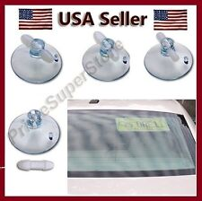 LICENSE / NOVELTY PLATE CLEAR SUCTION CUPS REAR WINDOW/ WINDSHIELD KIT CAR TRUCK
