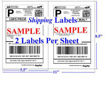 4000 Premium Shipping Labels 2 lables Per Sheet 8.5 x 11 Self Adhesive