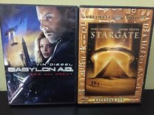 Lot Of 2 Sci-fi DVDs Babylon AD and Stargate Ultimate Edition Free Shipping