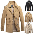 Decent Mens Trench Coat Formal Jackets Pea Coat Winter Parka Overcoat Size XS~XL