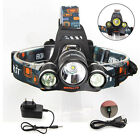 Rechargeable 6000 Lumen 3x lamp XM-L T6 LED Headlamp Headlight Head Torches USB