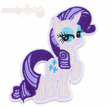 Rarity MY LITTLE PONY Kawaii Applique Iron/ Sew-On Patch Badge T-Shirt Crafts