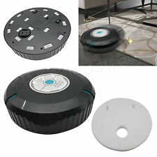 "9"" inch Home Robotic Smart Auto Cleaner Robot Microfiber Mop Dust sweeper Black"
