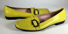AK ANNE KLEIN iflex Loafers  Womens 10 M leather deep yellow shoes excellent