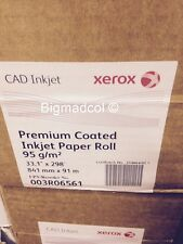 Xerox 003R06561 Premium Coated Inkjet A0 CAD Plotter Paper 95gsm 841mm x 91m