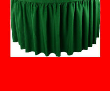 14' RED PREMIUM FLAME RETARDANT TABLE SKIRTS - FIRE RESISTANT TABLE SKIRTING