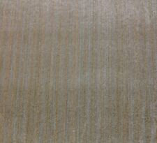 CLAREMONT SIBTON OYSTER BEIGE STRIE VELVET UPHOLSTERY LINEN FABRIC BY THE YARD