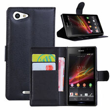 HOUSSE ETUI COQUE CUIR LUXE PORTEFEUILLE A RABAT SONY ERICSSON XPERIA Z5 COMPACT