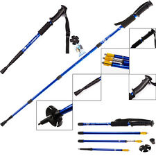 4-Section Hiking Walking Trekking Anti Shock Trail Poles Adjustable Sticks Canes