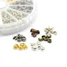 1Box Mixed Color Iron Crimp Beads Knot Covers End Bead 4mm DIY Jewerly Finding