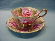 Aynsley Large Roses Teacup & Saucer