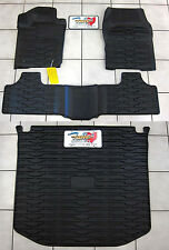 16-2017 Jeep Grand Cherokee Rubber Slush Floor Mats & Cargo Tray Liner Set Mopar