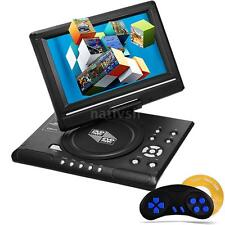 "9"" Portable Rotatable Screen CD DVD Player with Game, FM, TV, USB SD AV MP3 I8T1"