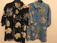 Jamaica Jaxx Men's Hawaiian Shirt XL 100% Silk - Lot Of 2