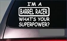 "Barrel Racing 8"" sticker decal *G351* quarter horse rodeo cowboy cowgirl trailor"