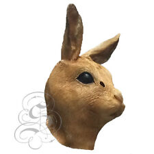 Latex Full Head Animal Brown Rabbit Hare High Quality Fancy Dress Carnival Masks