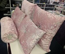Brand new baby pink crushed velvet cushions joblot set of 5!