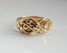 "Splendido antico ""Periodo edoardiano' 18ct GOLD"" Love Knot Ring 'c1911; misura UK AM 1/2'"