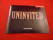 Uninvited Nintendo NES Instruction Manual Booklet ONLY