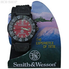 Smith & Wesson Reloj De Pulsera Firefighter Nylon Pulsera Bisel Giratorio