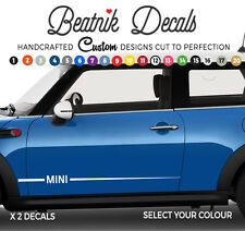 MINI Side Stripes Stickers Decals Sleek OEM Quality Graphics Vinyl BMW ONE