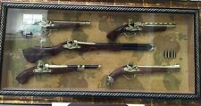 Replica gun in Glass Frame 5 Guns In Frame Brand New Gift Or Collected $899