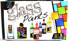 Glass Paints Set Glass Painting Set Fast Dry Glass Paint Pack 5 Assorted Colours