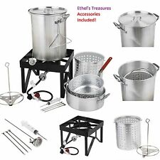Backyard Pro 30 Qt. Deluxe Aluminum Turkey Fryer & Steamer Kit Outdoor Propane
