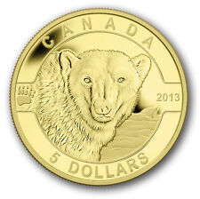 1/10 oz Pure Gold Coin - The Polar Bear - Mintage: 4000 (2013)   5 Dollars