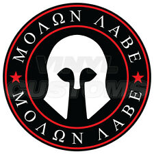 "8"" Molon Labe Decal Sticker Dont Tread On Me Gadsden Flag Vinyl Decal Red"