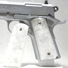 Gun / Pistol Grips, 1911 Officer/Compact Size, Kirinite ®, White Mother of Pearl