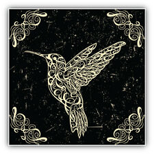 Hummingbird Art Car Bumper Sticker Decal 5'' x 5''
