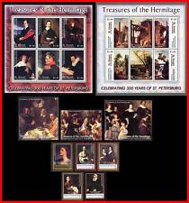 PAINTINGS / HERMITAGE = COMPLETE COLLECTION of 33 SETS, S/S & M/S MNH CV$163.00