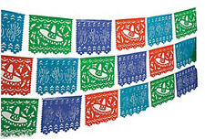 2-100' Mexican Cutout Banner Pennant Cinco de Mayo Flag Fiesta Party Decor 200ft