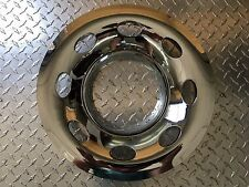 "14""  5x4.5"" BP Chrome Trailer Wheel Hub Cap Rim Covers QT544CLO"