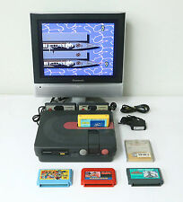 "SHARP Twin Famicom Console New Belt ""Excellent +"" w/5 Games Tested Properly!!!"