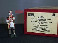 BRITAINS 49039 REDCOATS BRITISH FIFER 48TH REGIMENT OF FOOT 1755 TOY SOLDIER