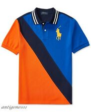 NWT Ralph Lauren Boys Big Pony Banner Striped Polo Size 10-12