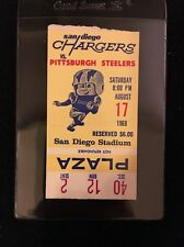 1968 AFL TICKET SAN DIEGO CHARGERS VS. PITTSBURGH STEELERS 8/17/68!!!