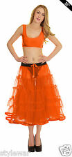 "Ladies Retro Underskirt 50s Vintage Petticoat Net Skirt Rockabilly 26"" Long Tutu"