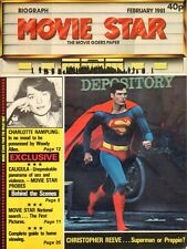 CHRISTOPHER REEVE - Vintage British Magazine MOVIE STAR dated February 1981 C#41