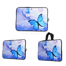 Luxury Blue Butterfly Pattern Laptop Case Soft Bag Cover For HP Chromebook 11