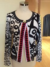 Olivier Philips Cardigan Size 12 BNWT Black White Pink Orange RRP £125 NOW £56