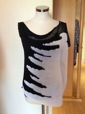 Aldo Martins Top Size 18 BNWT Black Cream Knit RRP £95 Now £43