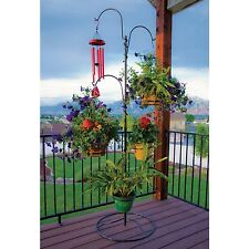 Outdoor Plant Stand Hanging Basket Holder Tree Flower Pot Indoor Patio Pool Side