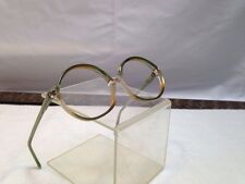 NOS vintage Riviera 70s glasses frames green/yellow dual tone