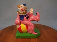 Clown: Sitting On Ball Dressed In Pink Suit, Made In Japan, Sears, Roebuck & Co.