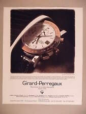 Girard-Perregaux Chronograph Watch PRINT AD - 1991 ~ wristwatch