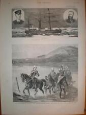 Denmark North pole Expedition ship Dijmphna 1883 print