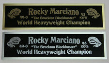 ROCKY MARCIANO NAMEPLATE FOR SIGNED TRUNKS GLOVE PHOTO DISPLAY CASE